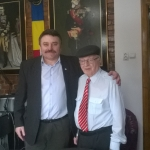 Eveniment stiintific: Academicianul Solomon Marcus in vizita la doctorul avocat Vasile Botomei