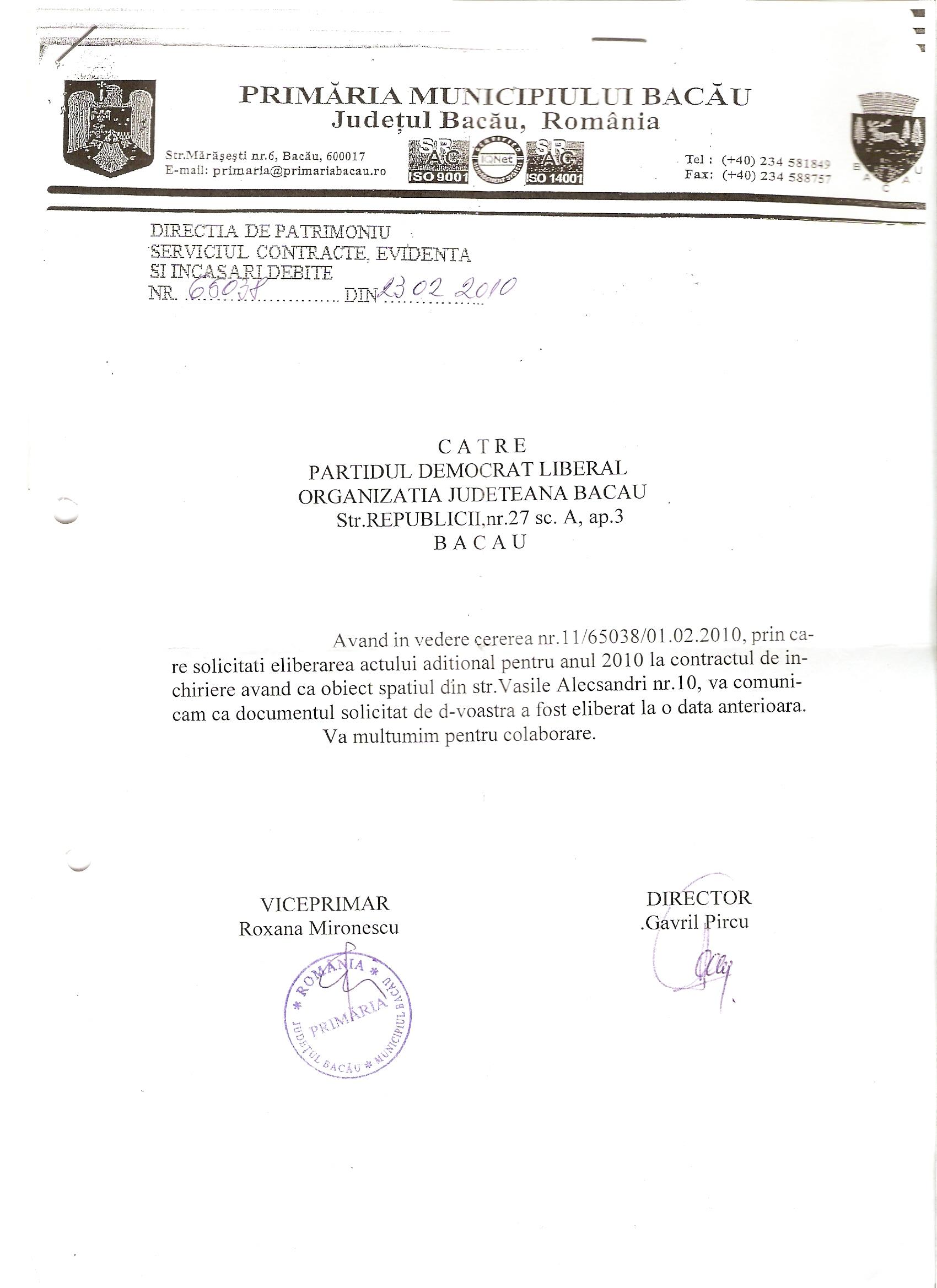 Stavarache Romeo a recunoascut public ca Botomei Vasile este presedintele PD-L Bacau