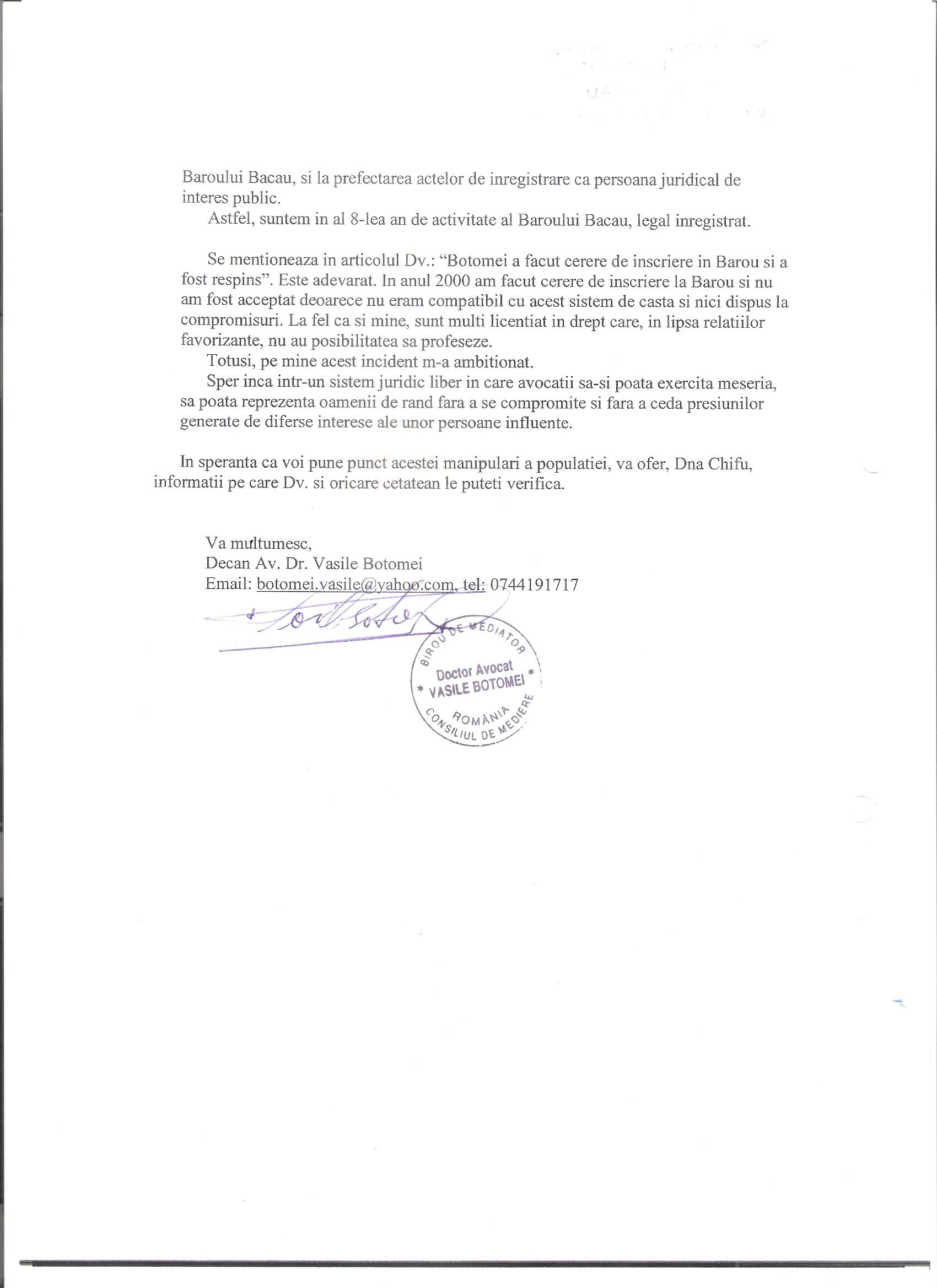 Ziarul de Bacau prezinta informatii false ce dezinformeaza cetatenii